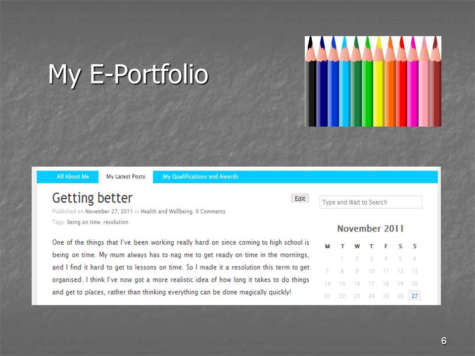 6 My E-Portfolio
