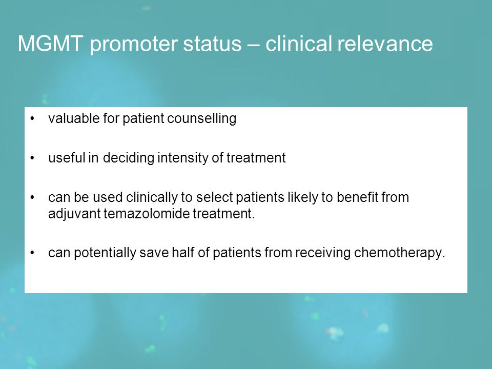 valuable for patient counselling useful in deciding intensity of treatment can be used clinically to select patients likely to benefit from adjuvant t