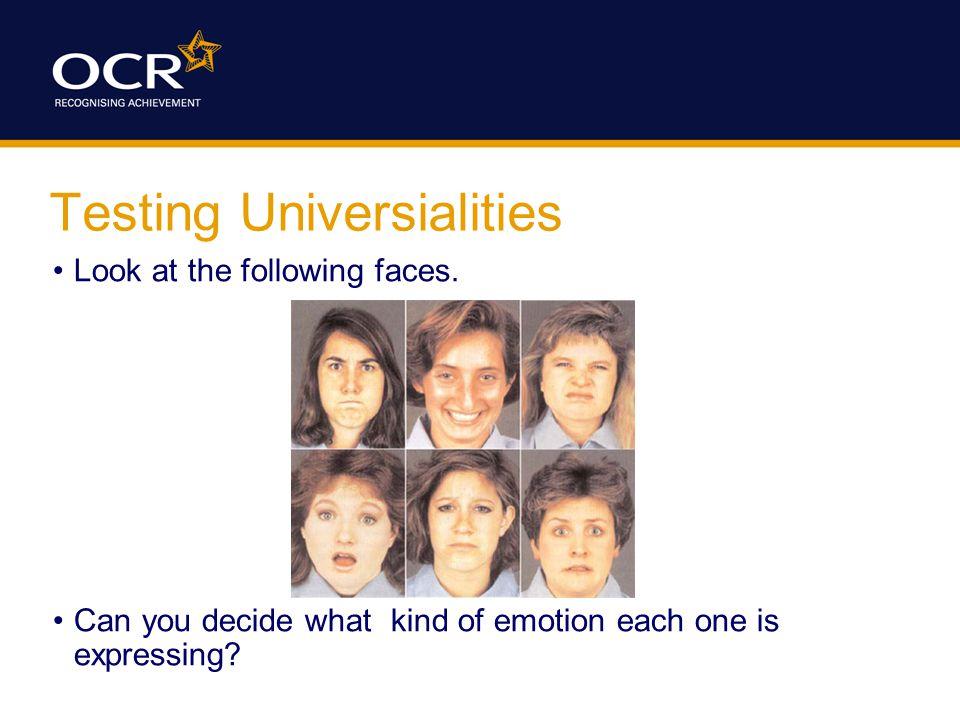 Method The participants were shown a set of six emoticons.