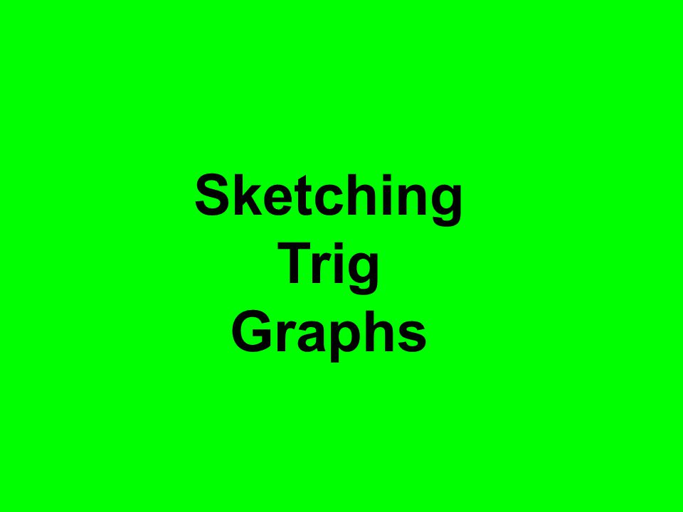Sketching Trig Graphs