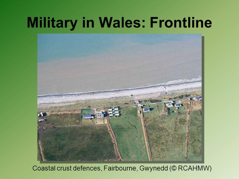 Military in Wales: Frontline Coastal crust defences, Fairbourne, Gwynedd (© RCAHMW)