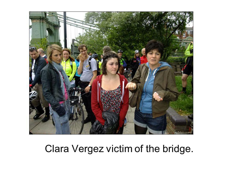 Clara Vergez victim of the bridge.