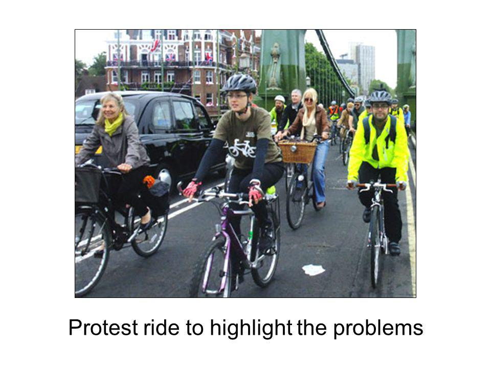 Protest ride to highlight the problems