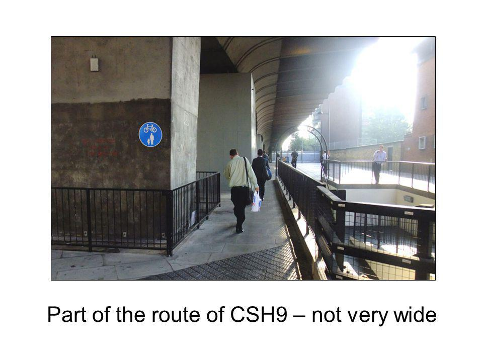 Part of the route of CSH9 – not very wide