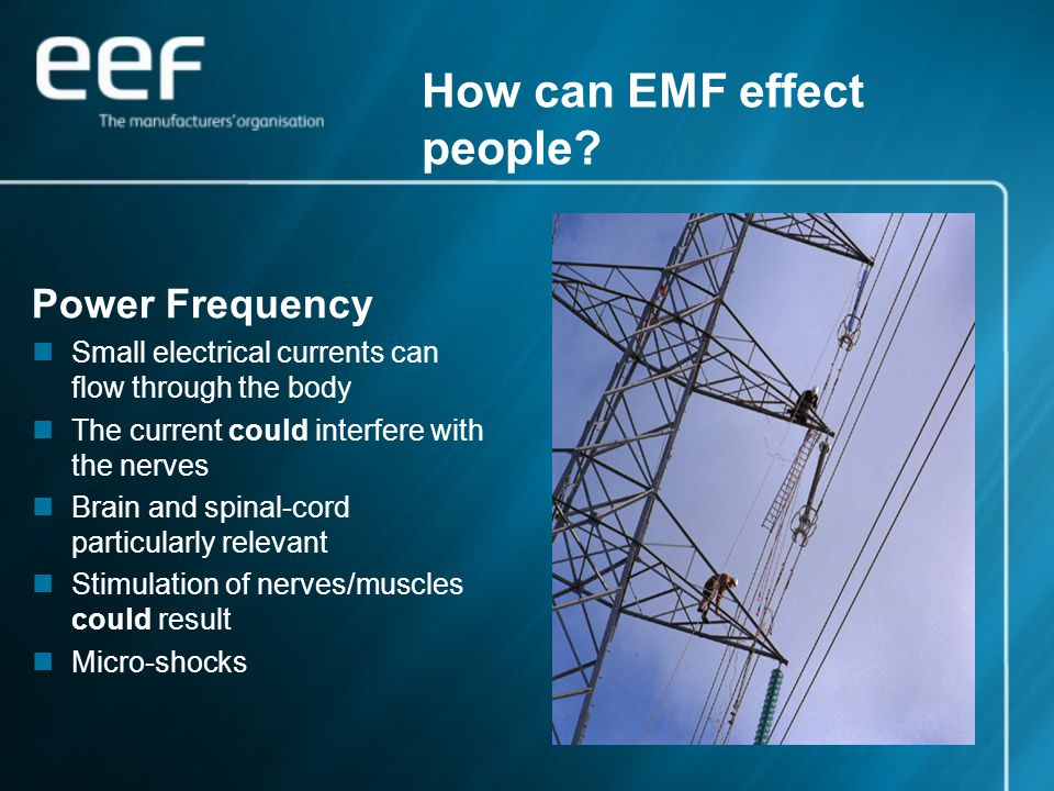 How can EMF effect people.