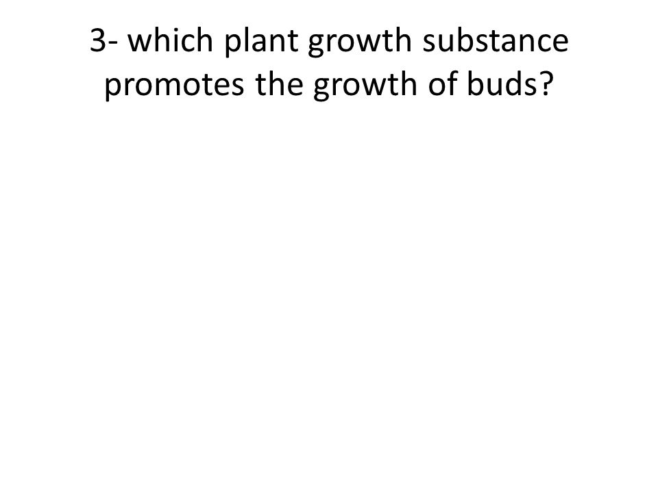 3- which plant growth substance promotes the growth of buds