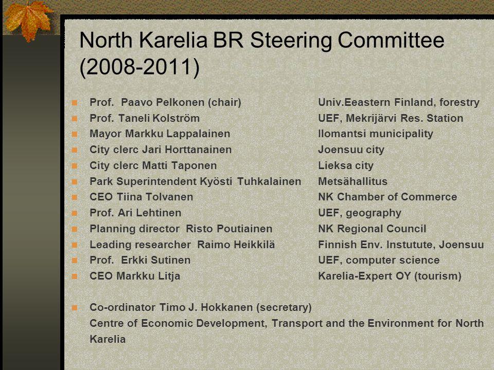 North Karelia BR Steering Committee (2008-2011) Prof.