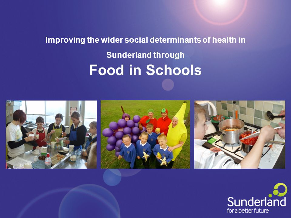 Improving the wider social determinants of health in Sunderland through Food in Schools