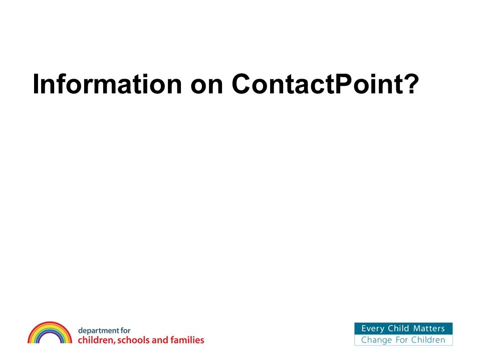 Information on ContactPoint
