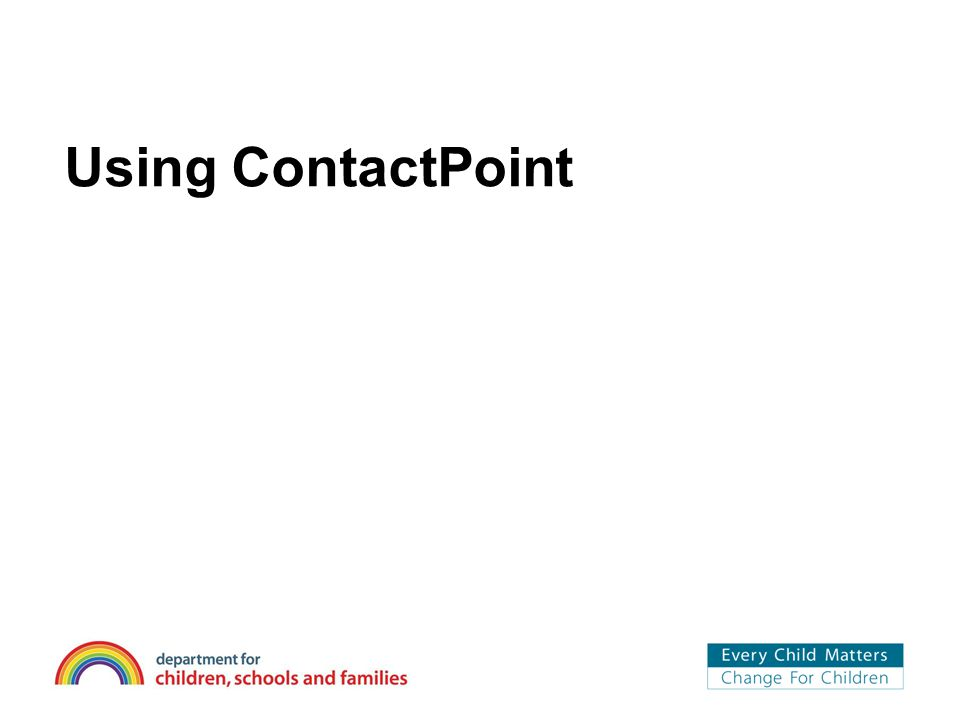 Using ContactPoint