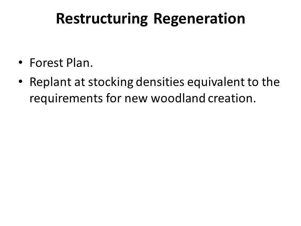 Restructuring Regeneration Forest Plan.