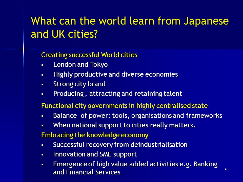 What can the world learn from Japanese and UK cities.