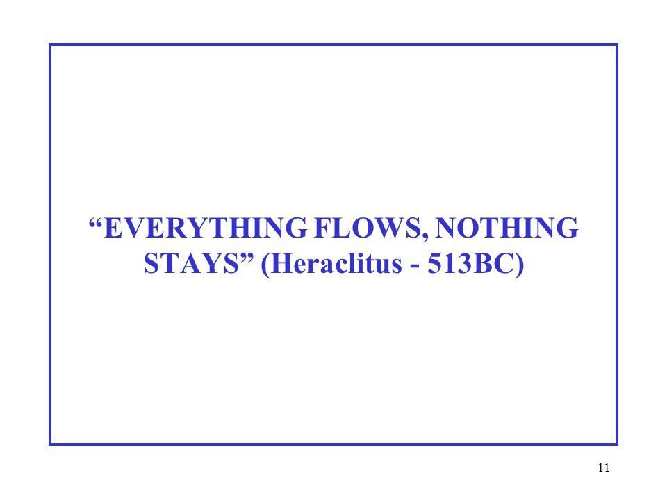 11 EVERYTHING FLOWS, NOTHING STAYS (Heraclitus - 513BC)