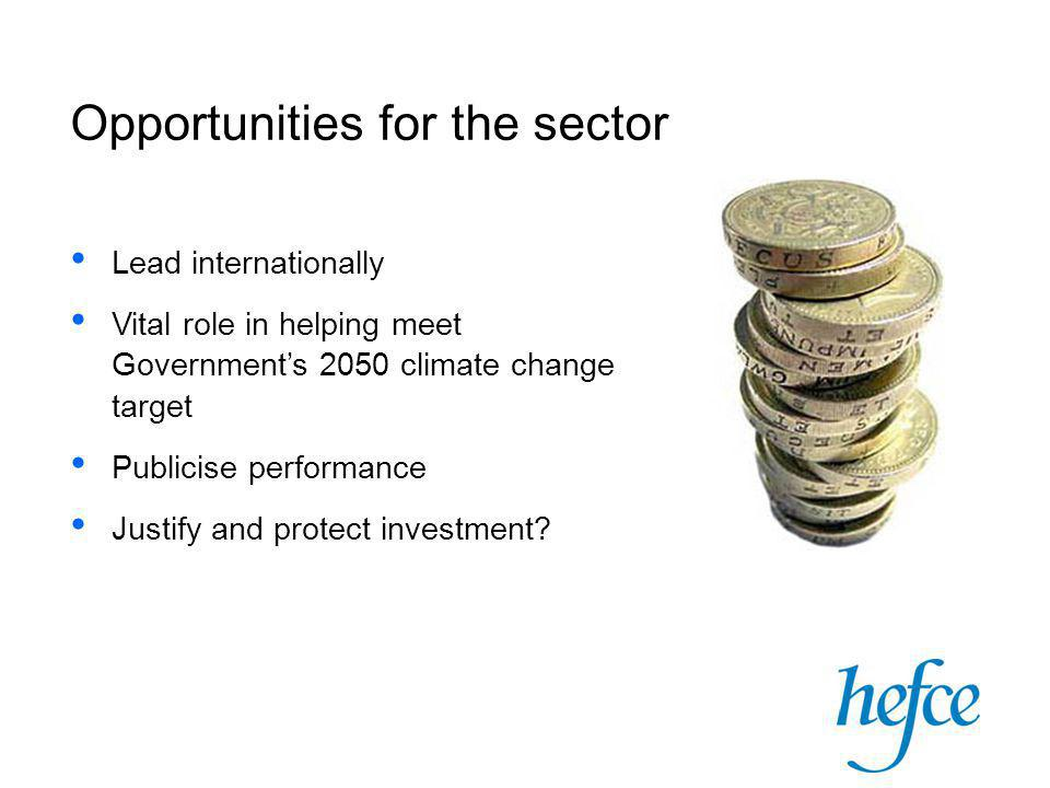 provides funding for all HEIs in England to support a broad range of knowledge exchange activities resulting in economic and social benefit to the UK not only with private sector – also public sector and charities, community groups etc innovation is the (only!) way to achieve an efficient, sustainable and low-carbon economy Higher Education Innovation Fund