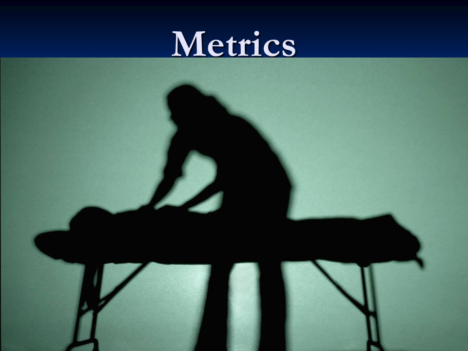 Metrics Measurement indicates progress towards value and responsiveness for patients. Measurement indicates progress towards value and responsiveness