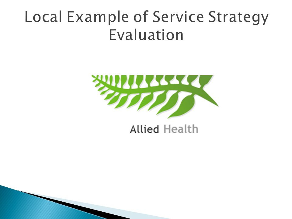 Local Example of Service Strategy Evaluation