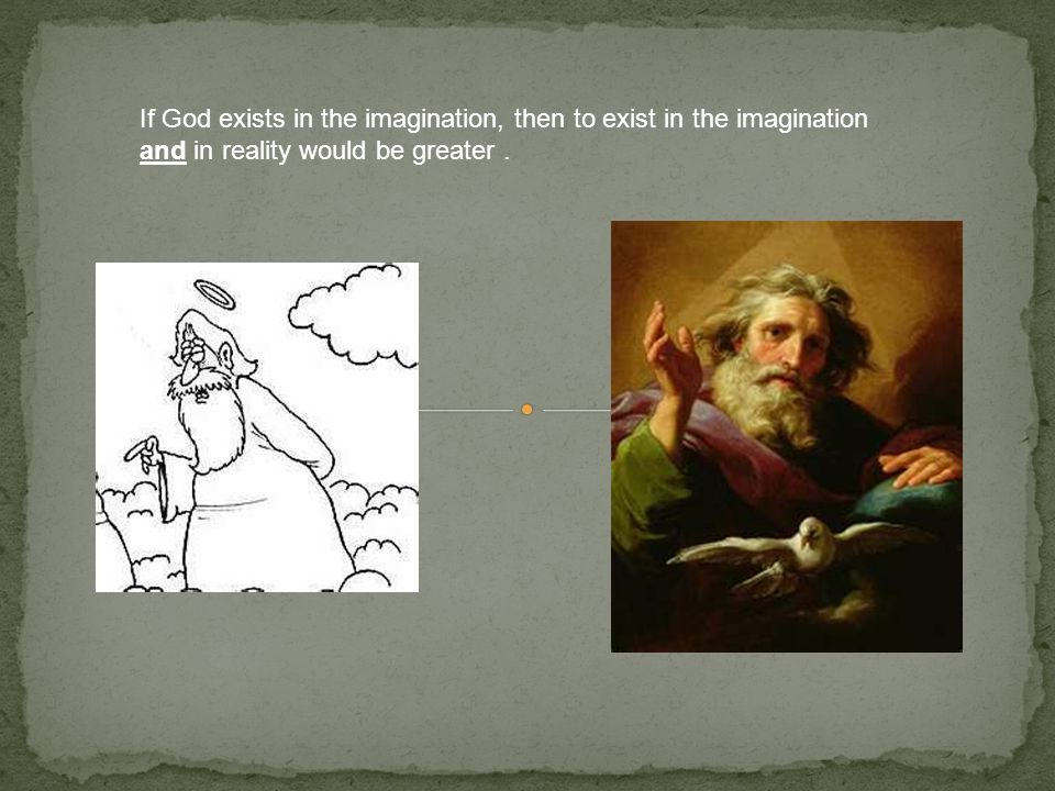 If God exists in the imagination, then to exist in the imagination and in reality would be greater.