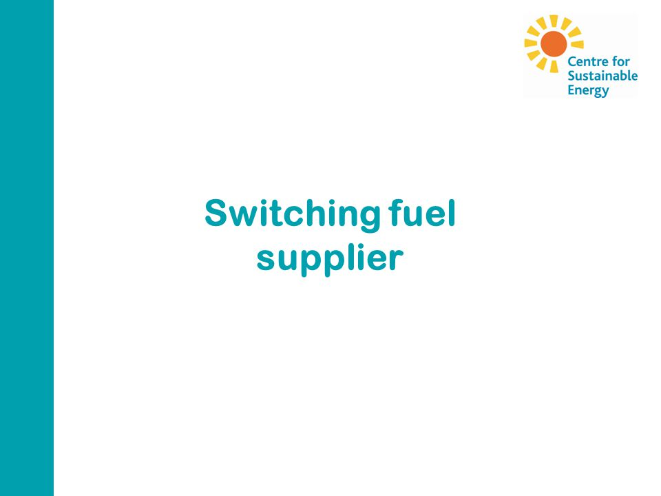Switching fuel supplier