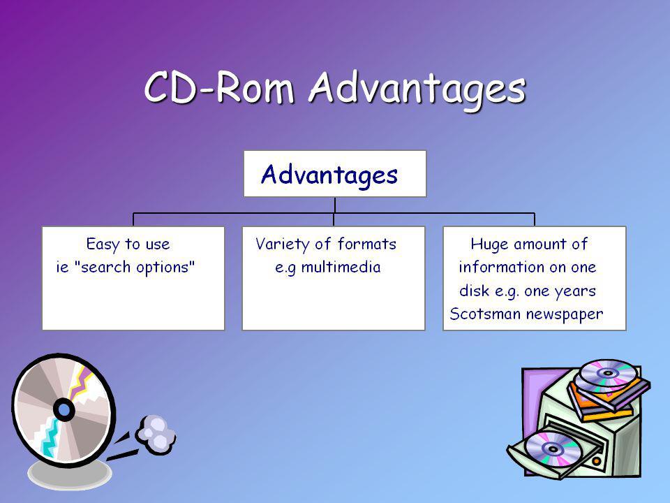 CD-Rom Advantages