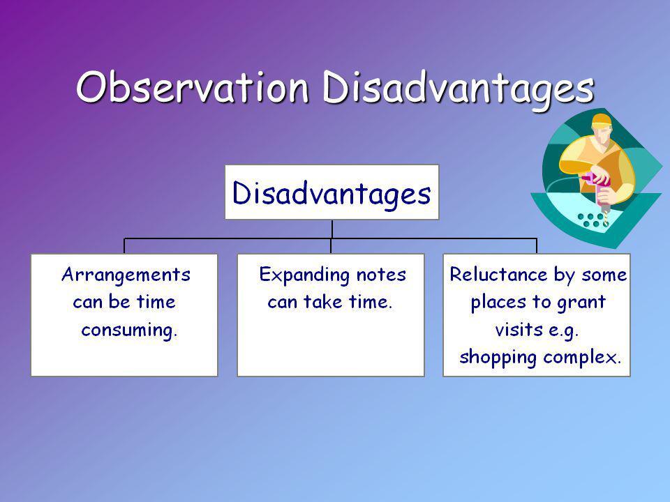 Observation Disadvantages