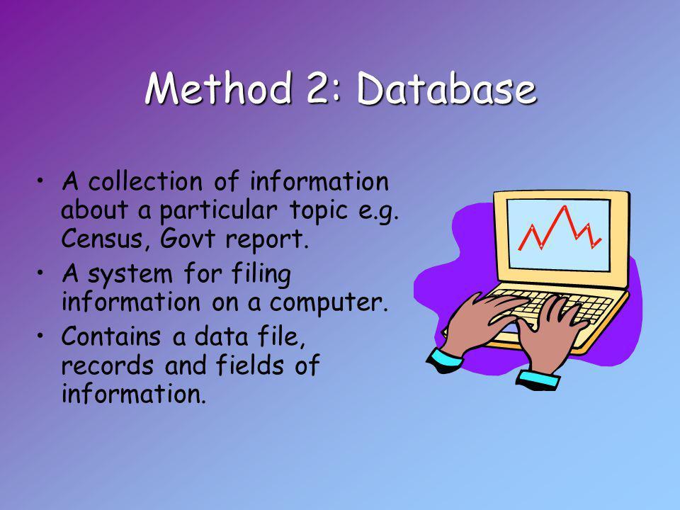 Database Advantages