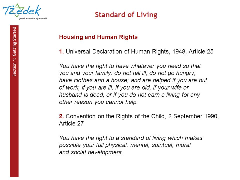Housing and Human Rights 1.