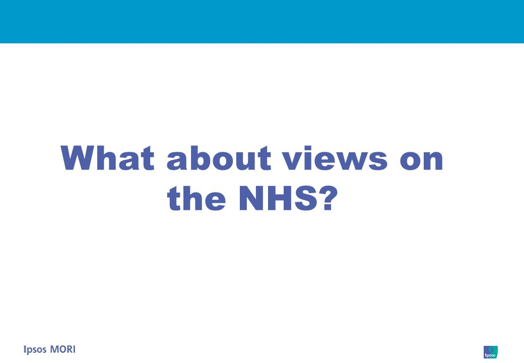 What about views on the NHS