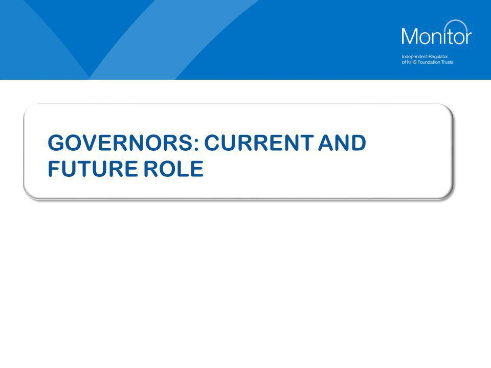 GOVERNORS: CURRENT AND FUTURE ROLE