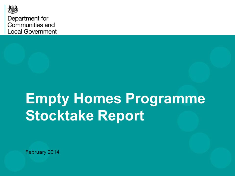 Tackling Empty Homes is a Ministerial priority & numbers are reducing 2 Why is it important to address empty homes.