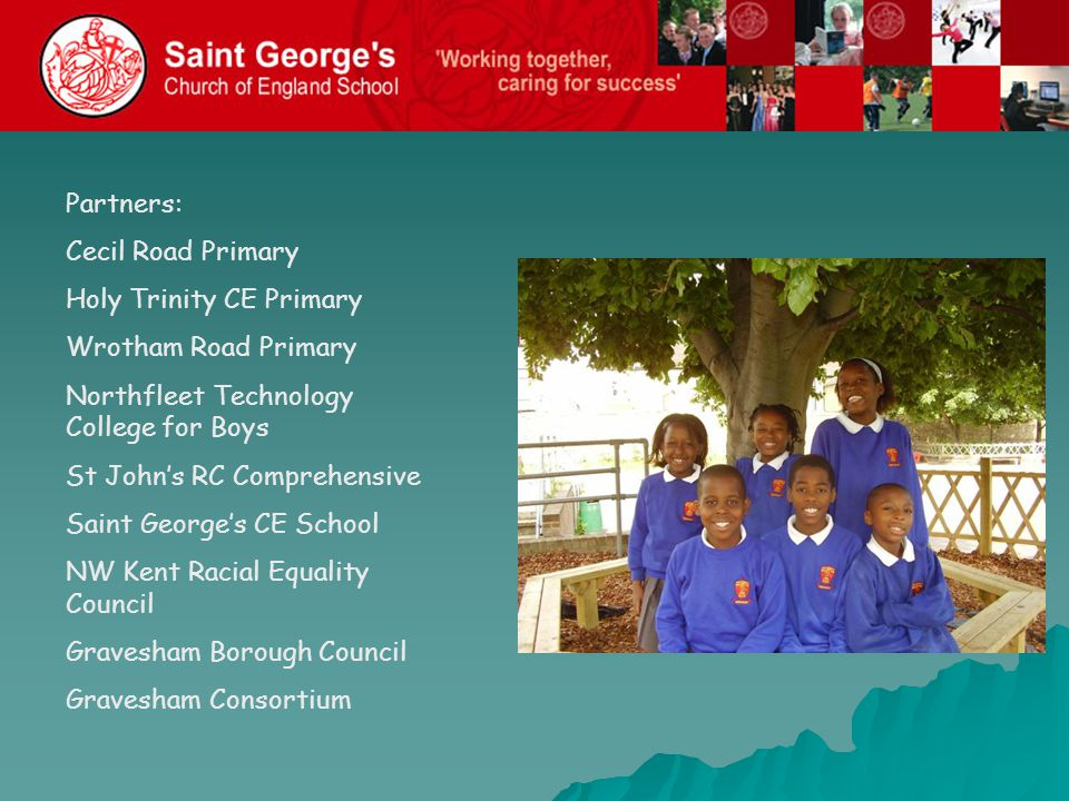 The Plan: To link each primary with a secondary partner Each pair to concentrate on specific ethnic groups: 1.Saint George's and Holy Trinity – African groups 2.St John's and Wrotham Road – East European Groups 3.