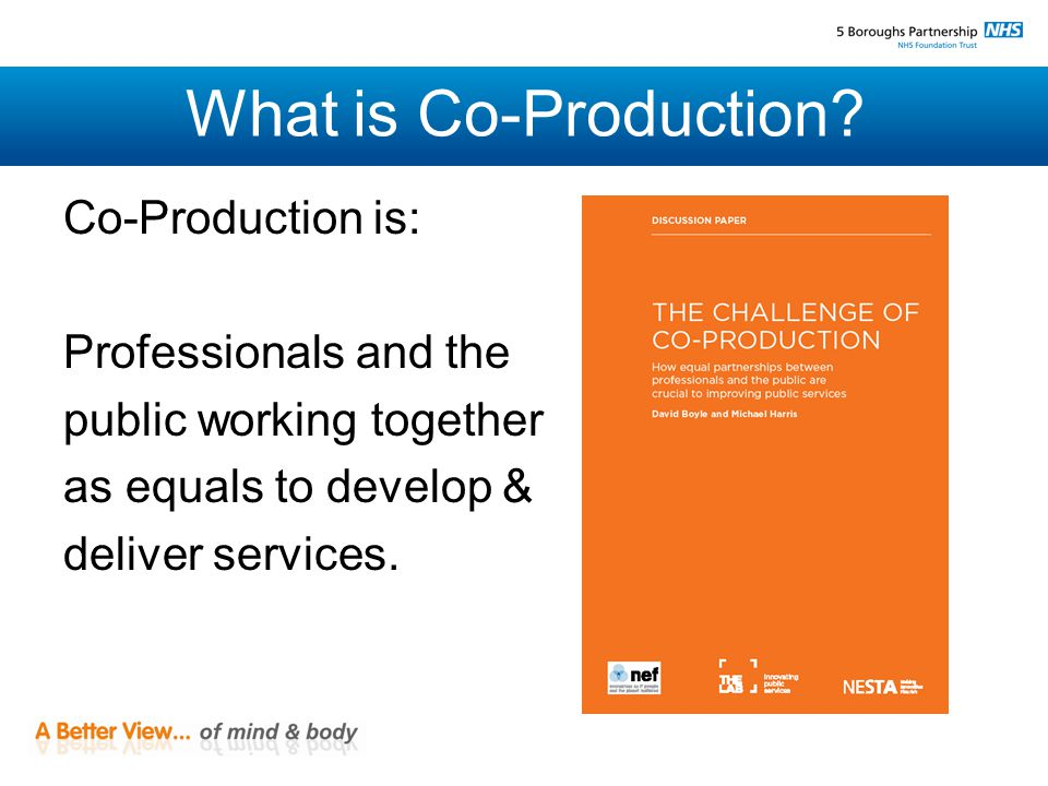 What is Co-Production.
