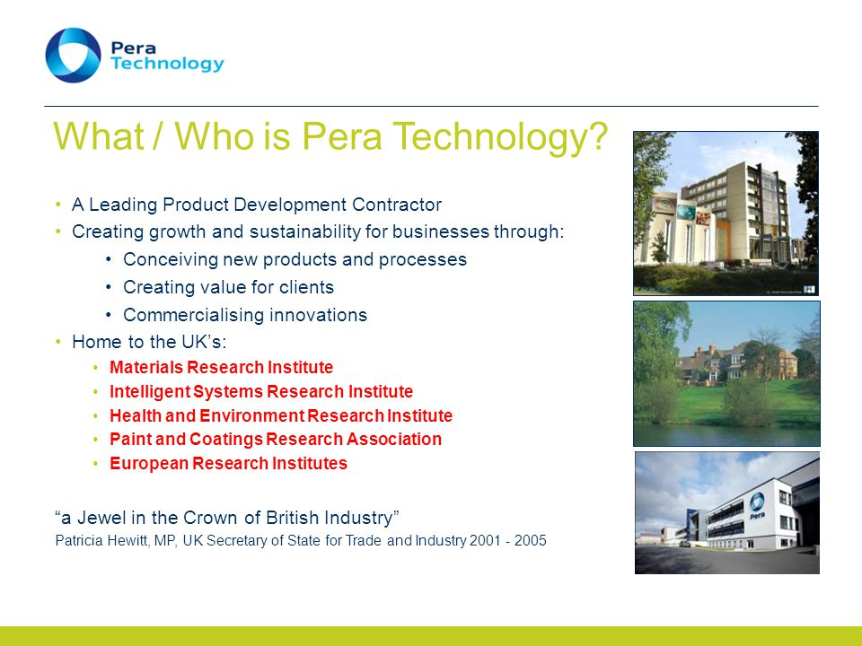 What / Who is Pera Technology.