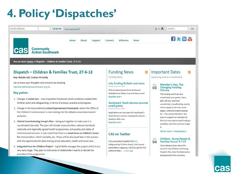 4. Policy 'Dispatches'