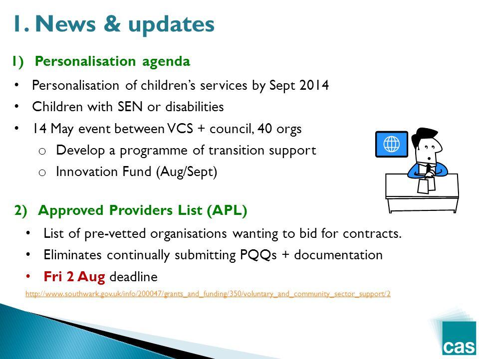 1)Personalisation agenda 1.