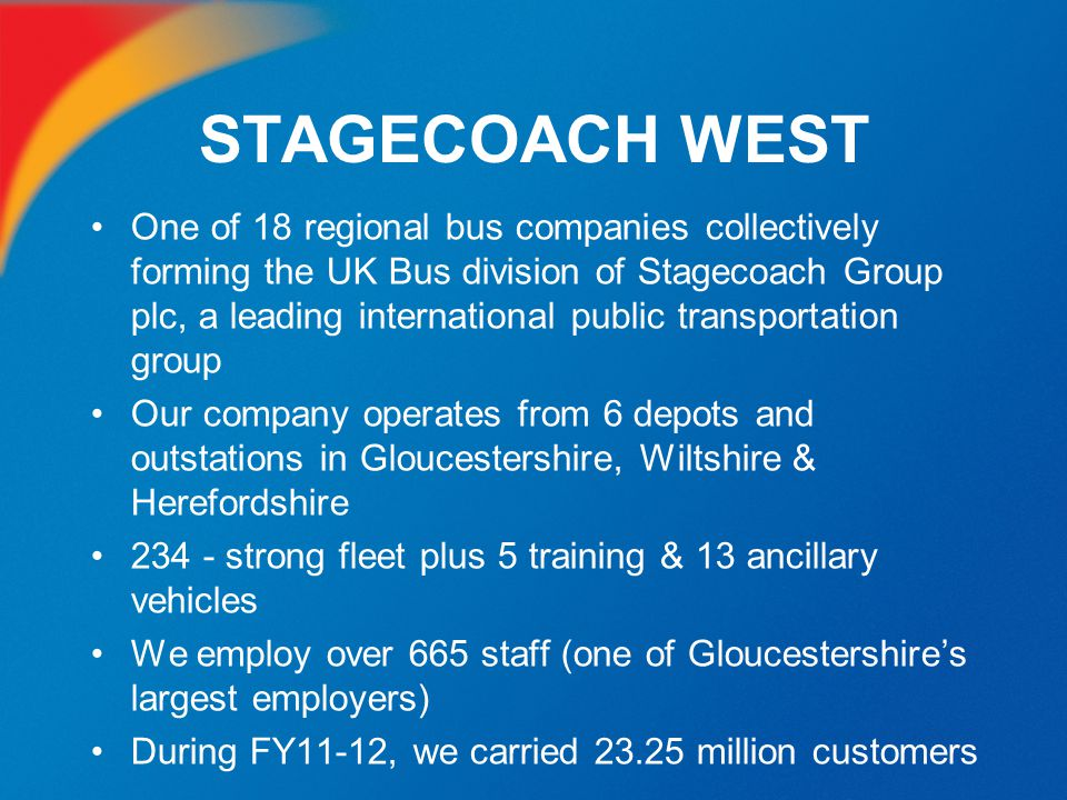 STAGECOACH WEST GTi SCHEME The Greener Travel Initiative is a scheme developed by Stagecoach West to encourage large organisations to promote the use of public transport to and from their premises instead of cars, as part of their carbon reduction plans.