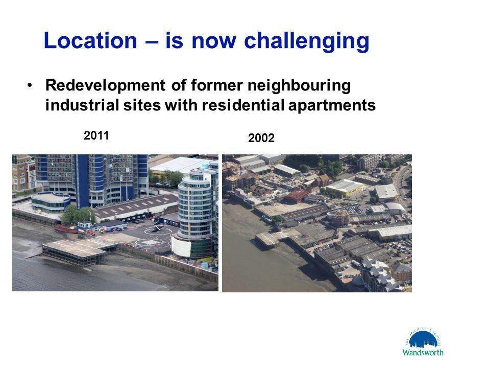 Location – is now challenging Redevelopment of former neighbouring industrial sites with residential apartments 21 March 20116 2002 2011