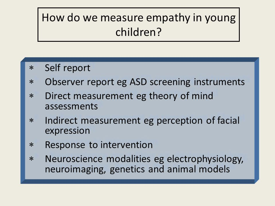 How do we measure empathy in young children.