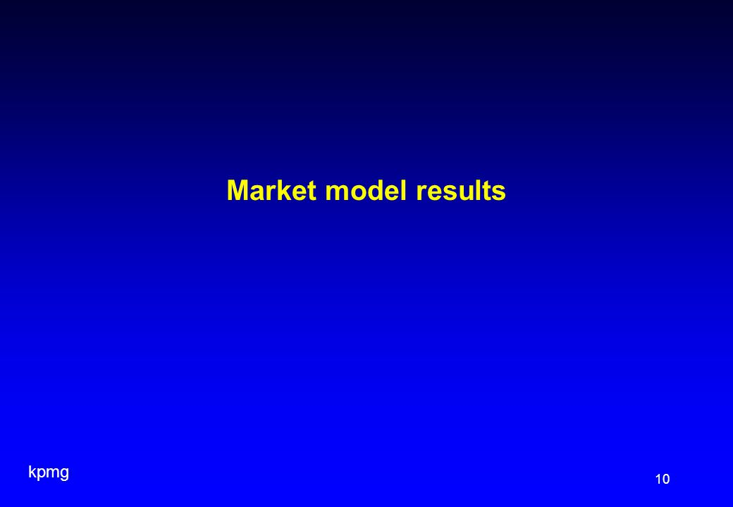 kpmg 10 Market model results