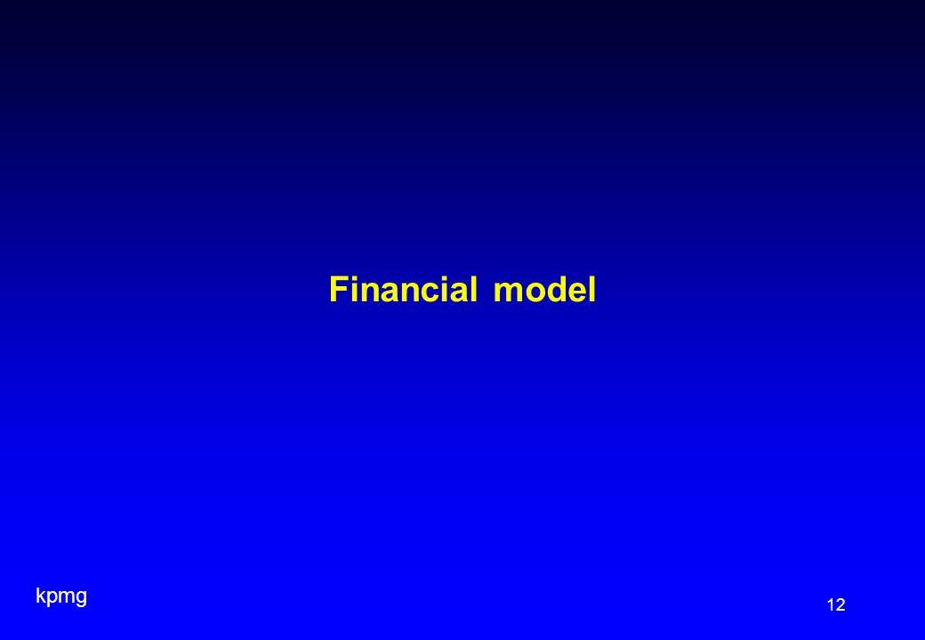 kpmg 12 Financial model