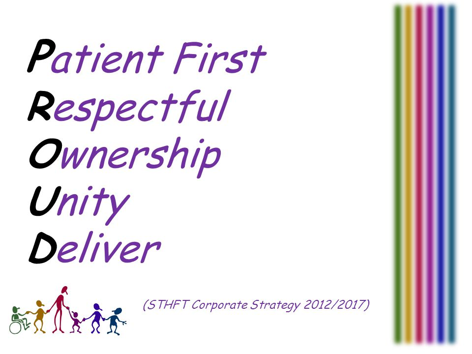 P atient First Respectful Ownership Unity Deliver (STHFT Corporate Strategy 2012/2017)