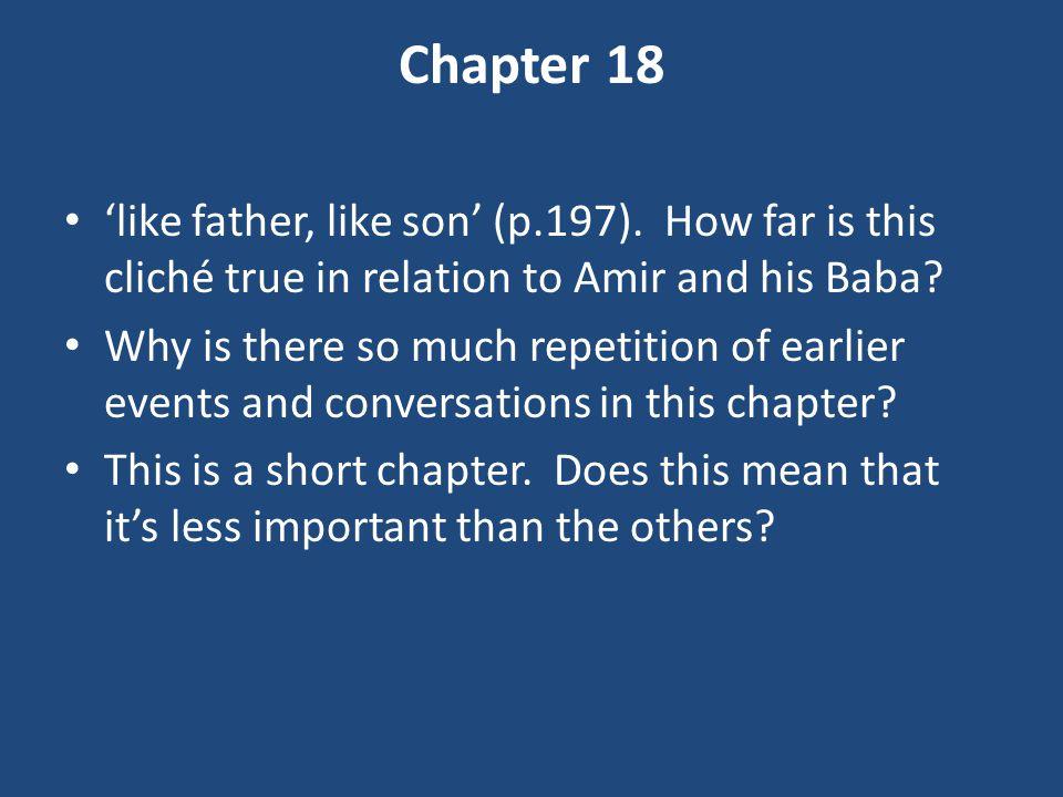 Chapter 18 'like father, like son' (p.197).