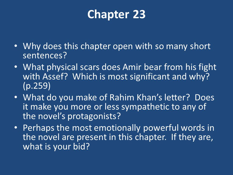 Chapter 23 Why does this chapter open with so many short sentences.