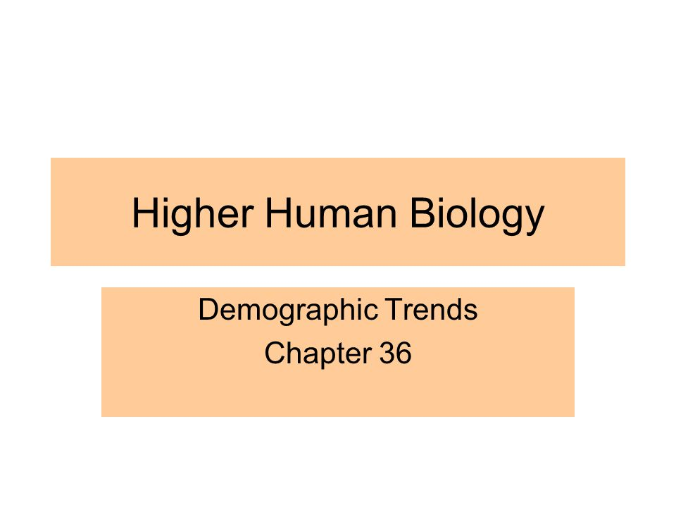 Higher Human Biology Demographic Trends Chapter 36