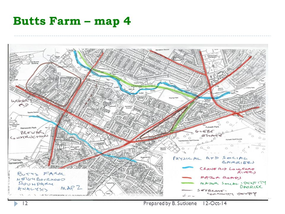 12-Oct-1412 Butts Farm – map 4 Prepared by B. Sutkiene