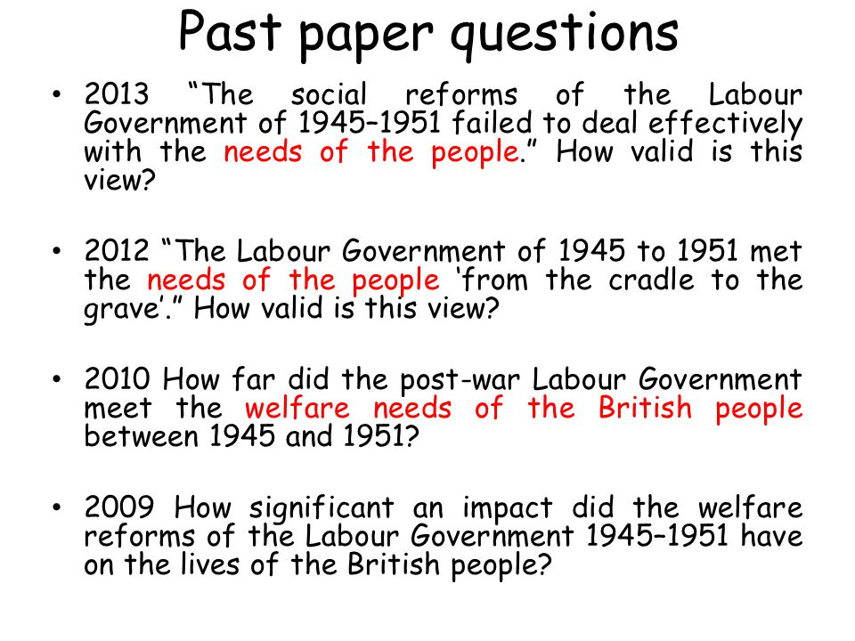 IDLENESS ARGUMENT Look at p92-93 Can you find an argument for and an argument against the successes of the Labour government in securing employment.