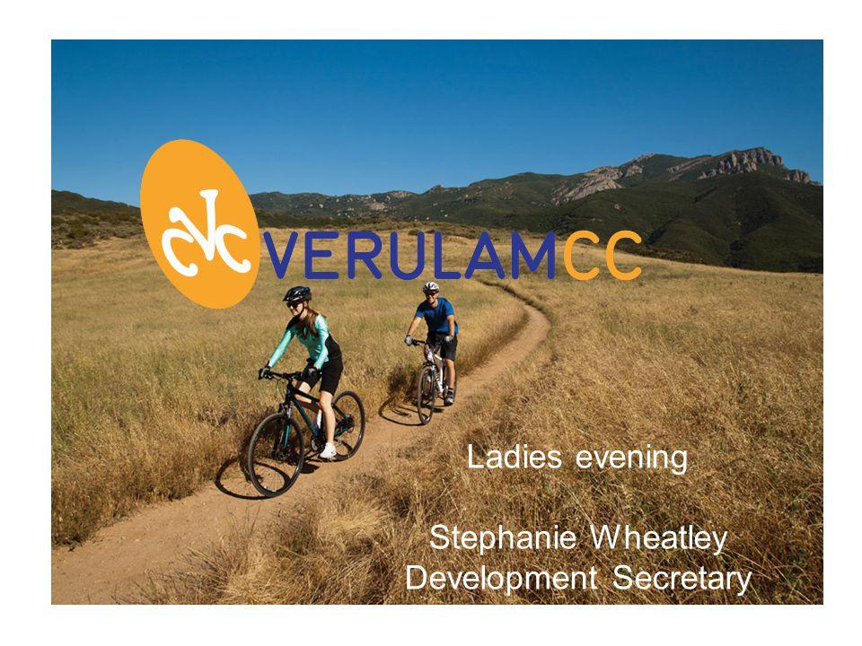 Ladies evening Stephanie Wheatley Development Secretary