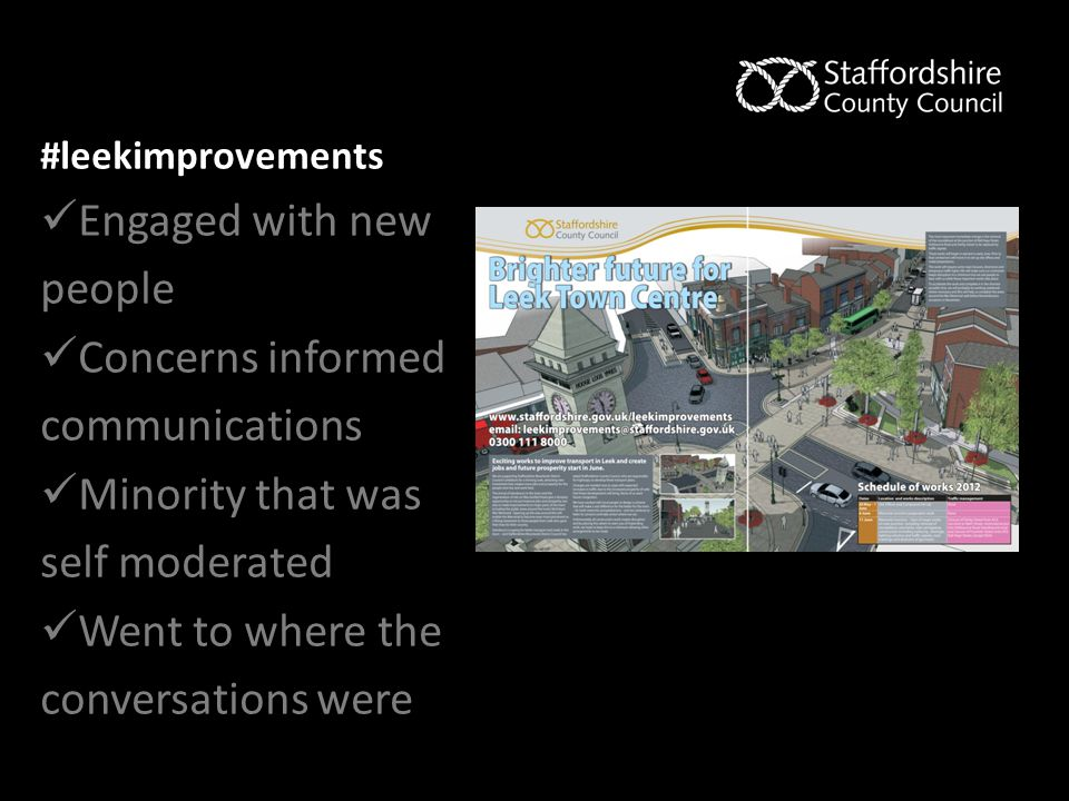 #leekimprovements Engaged with new people Concerns informed communications Minority that was self moderated Went to where the conversations were