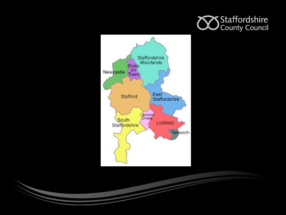 The background Committed to ensuring Staffordshire is an excellent place to live, visit and invest in.' Direct link between satisfaction, value for money & council accessibility and quality of services [Reputation tracker] Similar link to being involved in decision making Drive for innovation and transformation