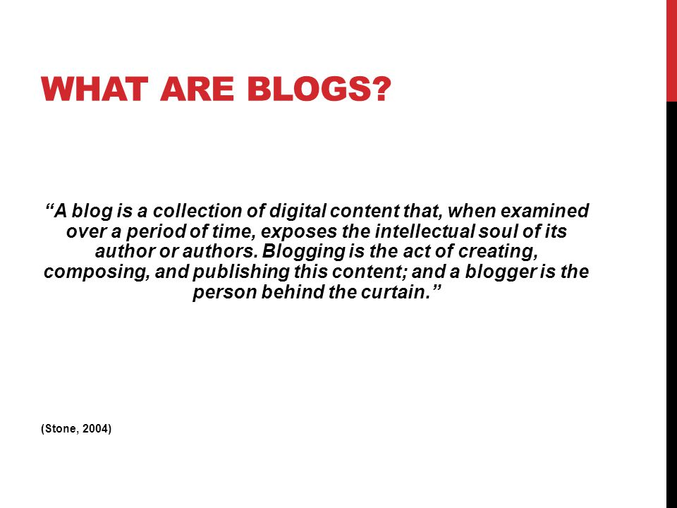 Online diary/archive/portfolio, where each 'post' is titled and dated.