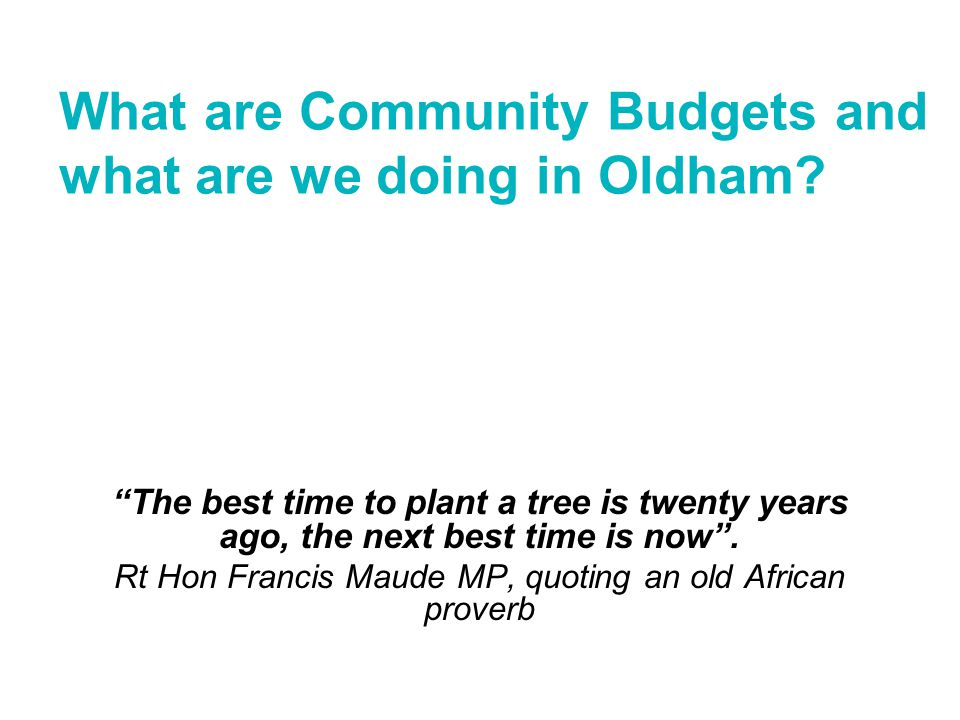What do we mean by 'Community Budgets'? How are Community Budgets useful?